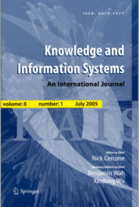 Springer Nature KNOWLEDGE AND INFORMATION SYSTEMS (KAIS)