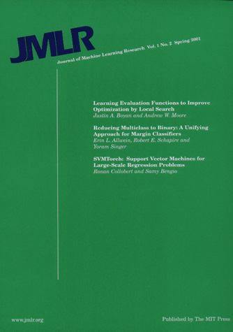 JOURNAL OF MACHINE LEARNING RESEARCH (JMLR) [2]